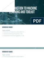 Week1_Introduction to Machine Learning and Toolkit