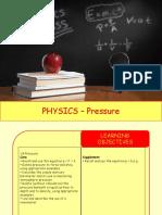 Physics 11 - Pressure