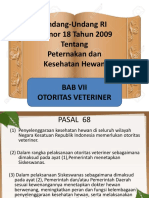 Uu Ri 18 Bab Vii Otoritas Veteriner