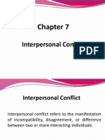 Ch 7 Interpersonal Conflict