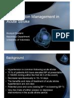 Hypertension Management in Acute Stroke-IKKI-2009