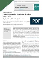 2d Oscillitating Lid Driven Cavity
