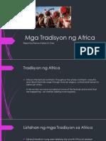 Mga Tradisyon Ng Africa