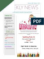 weekly newsletter-feb5- feb9