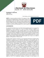 Jurado Nacional de Elecciones declara infundada tacha contra Manuel Masías