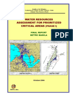 Assessment of Water Resources in Metro Manila