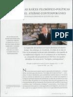 Las raíces filosoficas políticas del ateismo contemporáneo, Augusto del Noce