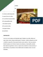 Deliciosa Ensalada de Quinua
