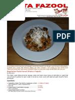 Vegetarian Pasta Fazool (Pasta e Fagioli) by Bob Levin