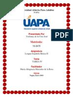 TAREA 4Lengua Espanola en Educacion Basica II YORLENY