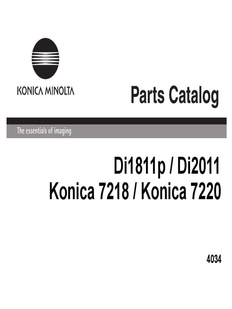MINOLTA Di1811p Di2011 7218 7220 Parts List Manual.pdf