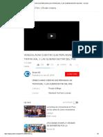 Venezolanas Cuentan Que Peruanas Las Tratan Mal y Las Quieren Botar Del Pais - Youtube