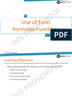 Use of Excel Formula Functions