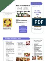 week 6 - healthy snacking brochure