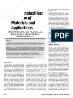 Smart Nanotextiles a Review of Materials and Applications