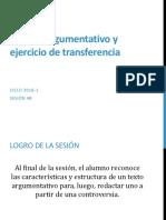 4B_El texto argumentativo y ejercicio de transferencia_2018-1.pptx