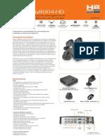 DVR Nexxt  XPY8004-HD - Caracteristicas y Descripción