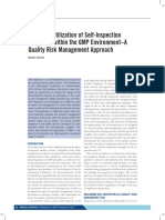 4. Improved Utilization of Self-Inspection Programs Within the GMP Environment–a Quality Risk Management Approach