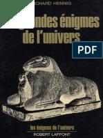 eBook Les Grandes Enigmes de l Univers - Richard Hennig