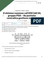 Il Sistema Common Rail EDC16C34, Gruppo PSA – 8a Puntata_ Centralina Gestione Motore