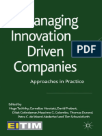 Managing Innovation Driven Companies_Hugo Tschirky, Massimo Colombo