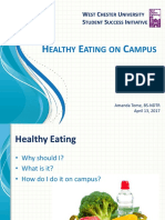 healthy eating on campus presentation