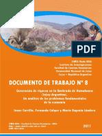 Generación de Riqueza en La Quebrada de Humahuaca (Jujuy-Argentina). Un Análisis de Los Problemas Fundamentales de La Economía
