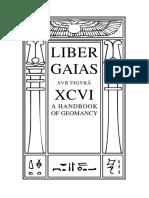 Liber Gaias (XCVI), a Handbook of Geomancy