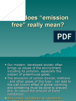 Concept of emission free processes