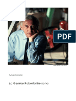 Tycjan Gołuński, Robert Bresson - La Genèse Original Version