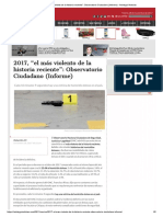 2017, _el Más Violento de La Historia Reciente__ Observatorio Ciudadano (Informe) - Aristegui Noticias