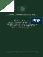Tribunal Constitucional - Responsabilidad Civil Del Estado.