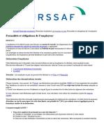 Formalités et obligations de l'employeur - Urssaf