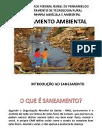 SA_Aula 02_INTRODUÇÃO AO SANEAMENTO