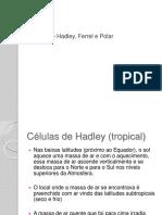 Aula 4B - Células de Hadley-Ferrel-Polar