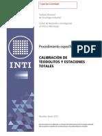 Calibración de teodolitos y estaciones totales