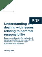 Parental Responsibility Advice for School January 2016