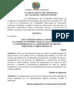 Ley Constitucional contra Guerra Económica y Adquisión Bienes, Servicios y Obras Públicas