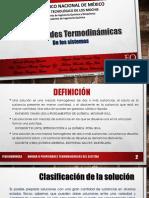 Propiedades Termodinámicas de las Soluciones