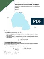 Ejercicio de Cálculo de Balance Hídrico