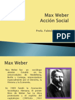 Accion Social. Max Weber