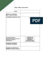 ANEXO 1.- Identificación General de La Institución