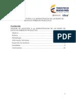 Informe Auditoria Base de Datos 2016