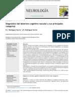 Diagnóstico del deterioro cognitivo vascular y sus principales categorías