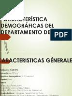 Característica Demográficas Del Departamento de Puno
