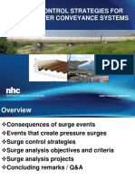Surge Control Strategies for Wastewater Conveyance Systems