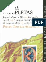Pseudo-Dionisio el Aeropagita. Obras completas.  BAC
