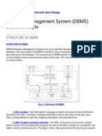 Database Management System (DBMS) Basic Concepts STRUCTURE of DBMS