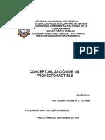 Tema 1 Conceptualizacion de Terminos de Un Proyecto Factible