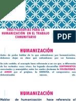 Tres Filosofias Para La Humanización en El Trabajo
